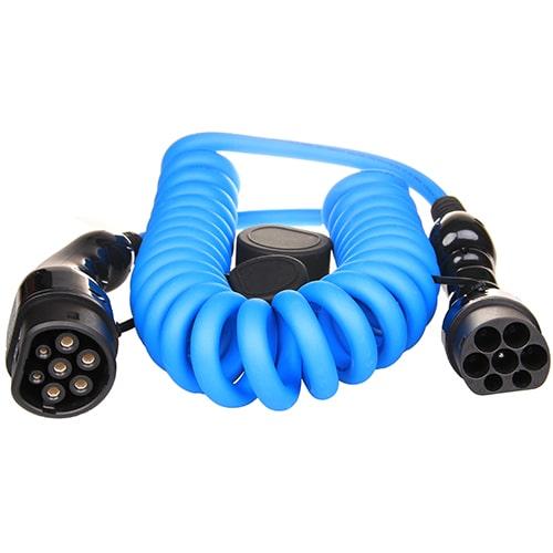 1-EV Type2 -> Type2 spiral (3x16A) Cablu de încărcare EV