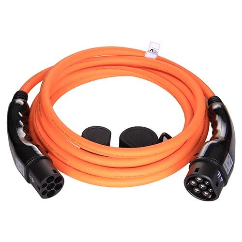 1-EV Type2 -> Type2 orange (3x32A) Cablu de încărcare EV