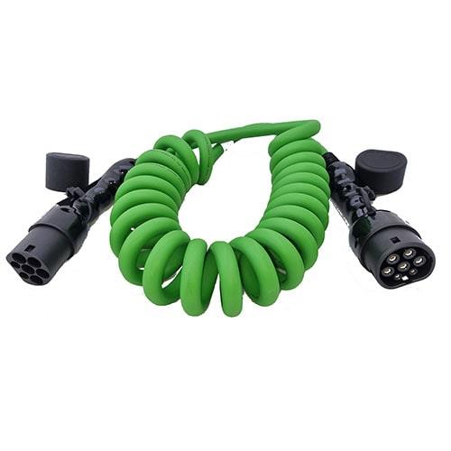 3-EV Type2 -> Type2 spiral (3x32A) Cablu de încărcare EV